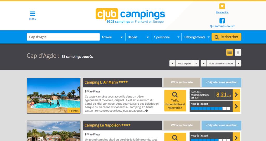 clubcampings.com